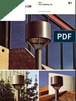Kim Lighting WTC Wide Throw Cutoff Brochure 1976
