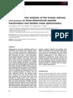 A Metaproteomic Analysis of the Human Salivary