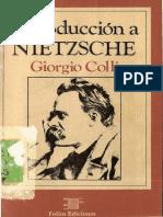 Colli Introduccion a Nietzsche