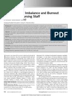 1.- Effort–Reward Imbalance and Burnout Among ICU Nursing Staff a Cross-Sectional Study