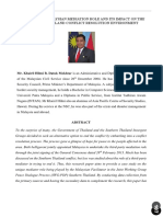 DYNAMICS OF MALAYSIAN MEDIATION ROLE AND ITS IMPACT ON THE SOUTHERN THAILAND CONFLICT RESOLUTION ENVIRONMENT
