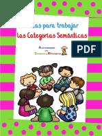 Fichas Para Trabajar Las Categorías Semánticas