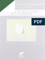 Manual de Psicología de La Memoria - José María Ruiz-Vargas