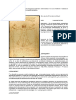 Proceso Creativo Análisis Obra Hombre de Vitruvio- Leonardo Da Vinci
