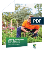 Central Goldfields Shire  Draft Budget 2018-2019