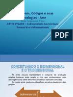 ARTES VISUAIS – a Diversidade Das Técnicas Formas Bi e Tridimensionais