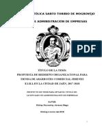 1 Avanse de Tesis II- Rediseño Organizacional