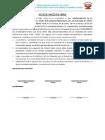 Acta de Inicio de Obra y Entrega de Terreno Pavimento Coata