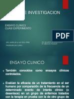 Investigacion Ensayos - Cuasi Experimentos - Dr Eduardo Salgado Leon