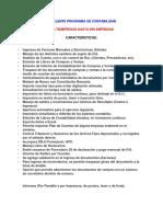 Características Software Contabilidad