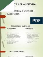 Tecnicas de Auditoria y Procedimientos