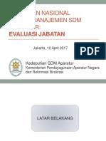 Kebijakan Nasional Evaluasi Jabatan