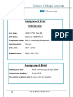 Assignment Brief (BHC) April 2018