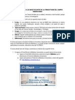 Guia de Acceso a Bases de Datos de La Utmach Fuera Del Campus