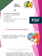 5.3 Escenario Socio - Economico.