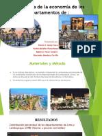 Panorama de La Economía de Los Departamentos LAMBAYEQUE-LIMA