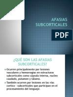 AFASIAS SUBCORTICALES