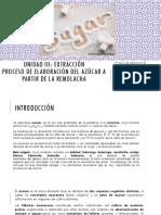 Proceso de Extracción Del Azúcar de La Remolacha