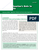 The Veterinarian's Role in Food Safety