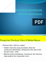 Opini Dan Pengembangan Media Advokasi