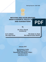 Reviving and Accelerating India's Exports Policy Issues and Suggestions