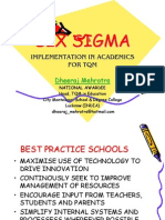 SIX SIGMA IN ACADEMICS