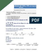 Ejemplo de Cálculo Del VAN y TIR