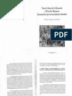 VÁZQUEZ PIEDAD - Teoría Crítica de La Educacion y Derechos Humanos