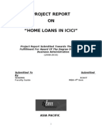 ICICI Home Loans Project Report