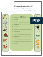 Animal Idioms of Comparisons 2 Fun Activities Games Games Reading Comprehension e 14249