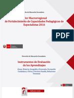 Instrumentos de Evaluacion CCSS,FCC, PFRH -2017