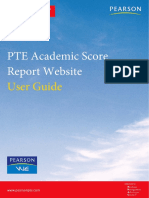 PTE Academic Score Report Website User Guide