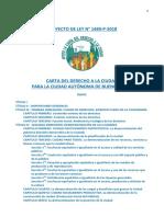 Carta Del Derecho a La Ciudad para la Ciudad de Buenos Aires - Versión 4.0   22-05-2017 - Proyecto de Ley N° 1489-P-2018