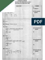 Add Maths 2 Kedah Trial 2010 Answer