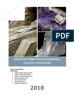 Termodinamica - Entalpia de Minerales