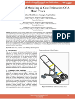 Computer Aided Modeling Cost Estimation of a Hand Truck