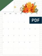 November Wall Calendar