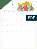 August Wall Calendar