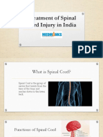 Treatment of Spinal Cord Injury in India