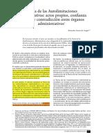 TEMA 12 Teoría de Las Autolimitaciones Administrativas Actos Propios de Confianza Legitima y Contradiccion Entre Organos Administrativos