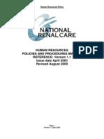 Human Resources Policies and Procedures Manual - Unit Copy