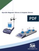 SciQuip GyroStir Magnetic Hotplate Stirrers Brochure 2012