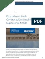 Procedimiento de Contratación Simplificado y Supersimplificado _ Pixelware