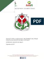 Plan de Manejo de Transito Parque Amalfi