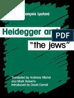 Lyotard Heidegger and the jews