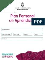 PLAN PERSONAL DE APRENDIZAJE Reso N°653 - Anexo I