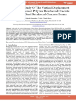 Comparative Study of the Vertical Displacement of Fibre Reinforced Polymer Reinforced Concrete Beams and Steel Reinforced Concrete Beams