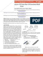 Fatigue Life Analysis of Joint Bar of Insulated Rail Joint