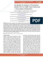Production and Quality Evaluation of Imitation Yoghurt From Blends of Cow Milk and Cashewnut Milk Anacadium Ocidentale