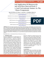 Synthesis and Application of Heterocyclic Disperse and Acid Dyes Derived From 2 Aminothiophene and Conventional Amines as the Diazo Components